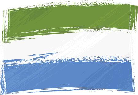 Grunge Sierra Leone flag Vector