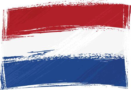 Grunge Netherlands flag Vector