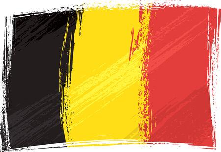 belgium: Grunge Belgium flag