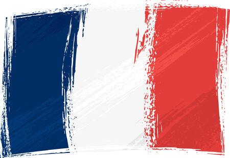 bandera francia: Grunge Bandera de Francia  Vectores