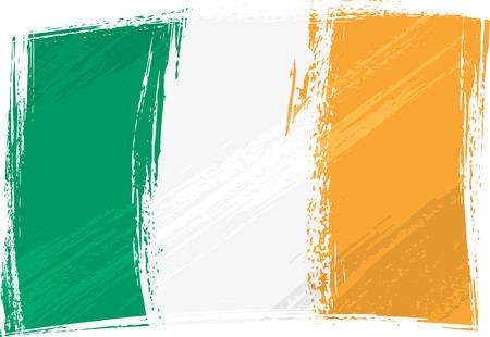 ireland flag: Grunge Ireland flag Illustration