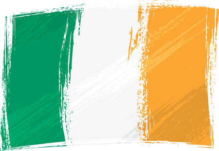 Grunge Ireland flag Stock Vector - 3140429
