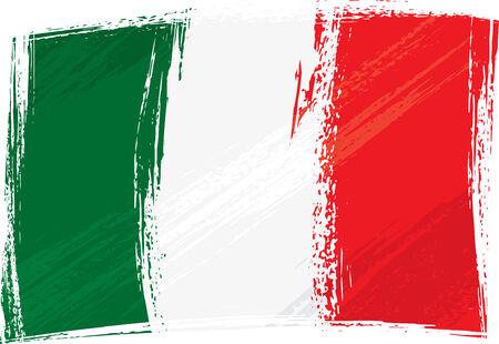 red flag: Grunge Italy flag