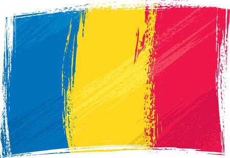 romania: Grunge Romania flag