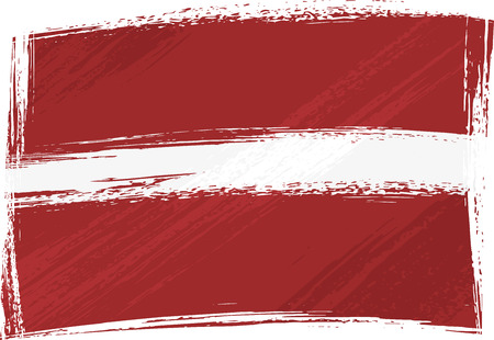 latvia flag: Grunge Latvia flag Illustration