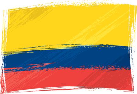 la bandera de colombia: Grunge bandera de Colombia