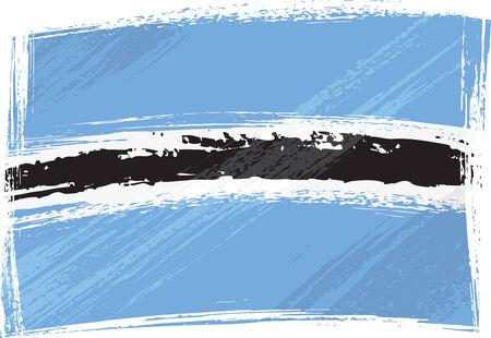 botswana: Grunge Botswana flag Illustration