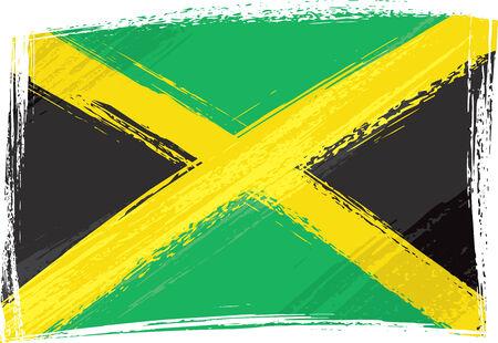 Grunge drapeau Jamaïque