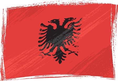 albania: Grunge Albania flag