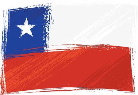 Grunge Chile flag Vector