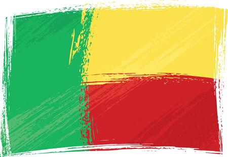 Grunge Benin flag Vector