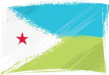djibouti: Grunge Djibouti flag