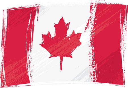 Grunge Canadese vlag Stock Illustratie