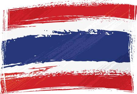 old flag: Grunge Thailand flag