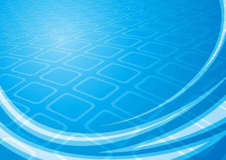 Blue squares Illustration