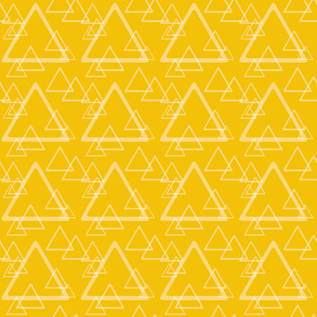 Triangles seamless texture in orange and yellow colors Vector