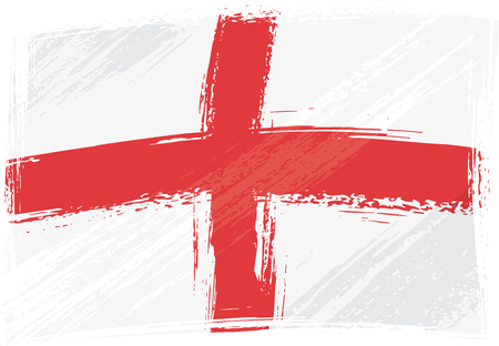 created: England national flag created in grunge style