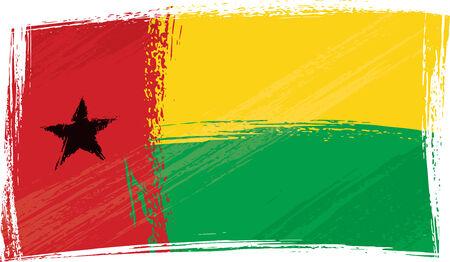 bissau: Grunge Guinea-Bissau flag