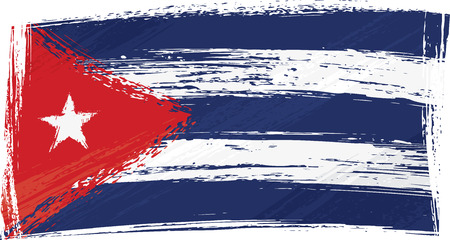 created: Cuba national flag created in grunge style