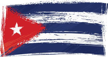 Cuba nationale vlag gemaakt in grunge-stijl