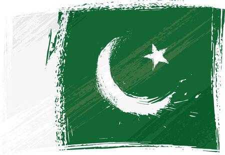 pakistan flag: Grunge Pakistan flag