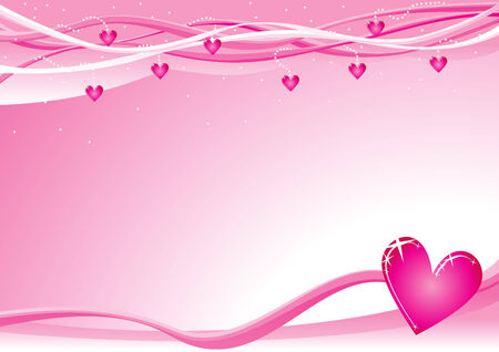 Lovely background with hearts for valentine day Illustration
