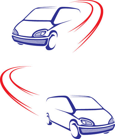 Fast car on road Vector
