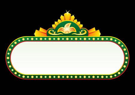 marquee sign: Oro verde al neon