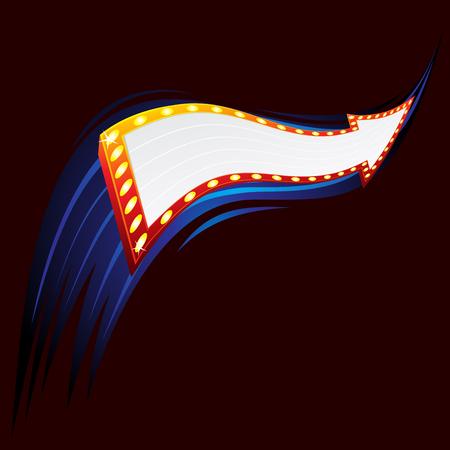 Neon arrow Vector
