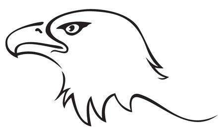 freedom logo: Eagle tatuaje Vectores