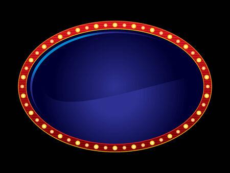 las vegas casino: Oval neon