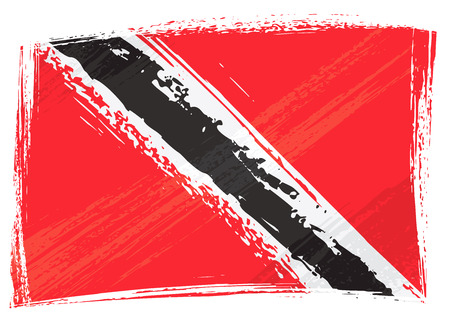 national flag trinidad and tobago: Grunge Trinidad and Tobago flag