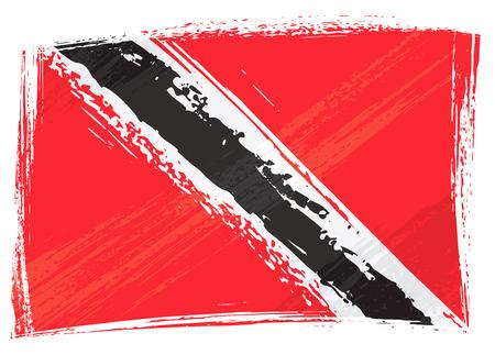 trinidad and tobago: Grunge Trinidad and Tobago flag