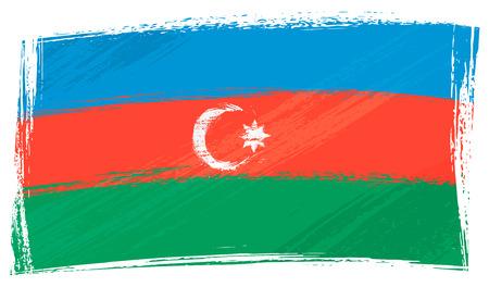 Grunge Azerbaijan flag Vector