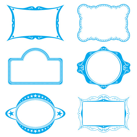vector button: Frame set
