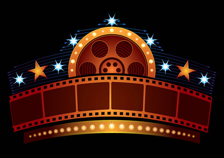 Cinema neon Vector