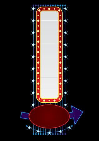 vertical: Vertical neon Illustration