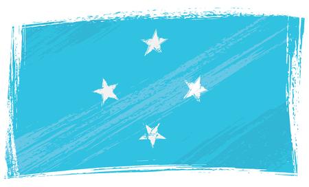 micronesia: Grunge Micronesia flag Illustration