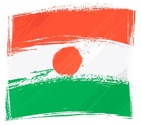 Grunge Niger flag Vector