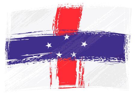 antilles: Grunge Netherlands Antilles flag