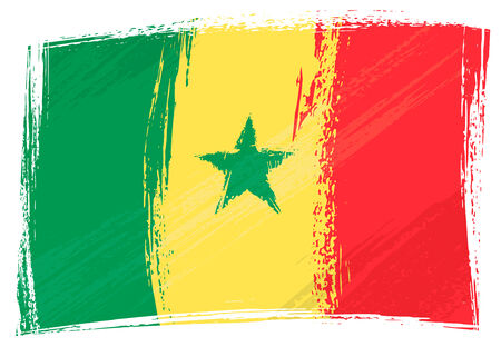 senegal: Grunge Senegal flag