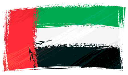 Grunge United Arab Emirates flag