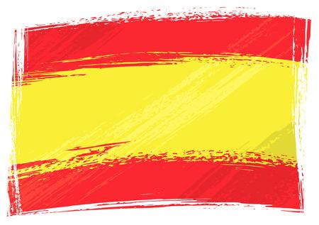 spanish flag: Grunge Spain flag