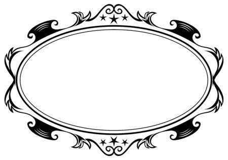 Antiguo marco ovalado Foto de archivo - 4829018