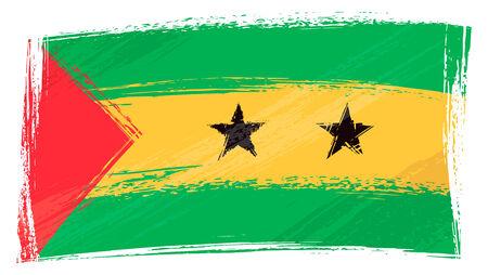 tomo: Grunge Sao Tome e Principe flag Vettoriali