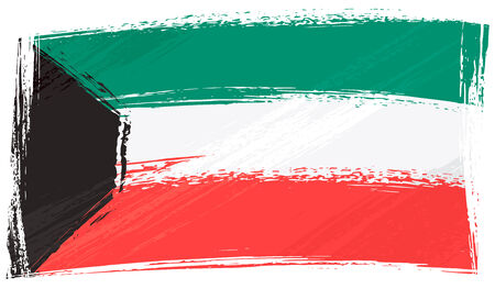 kuwait: Grunge Kuwait flag Illustration