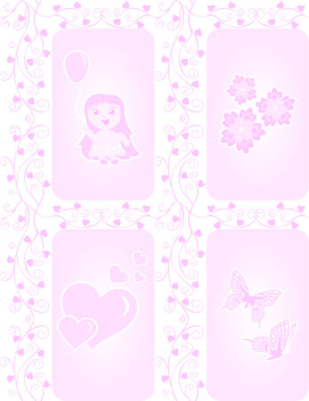Sweet seamless pink texture for little girls Vector