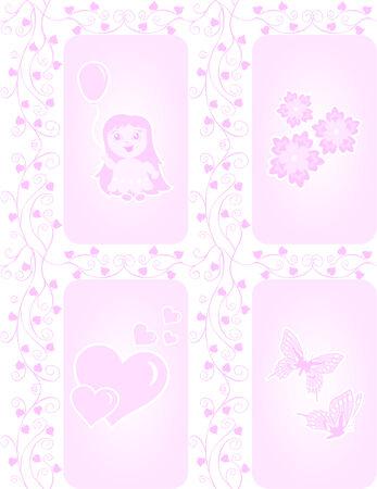 Sweet seamless pink texture for little girls Vector