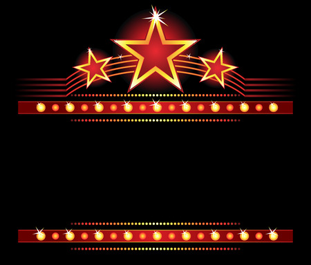 Big stars over place for your text Stock Vector - 5300650