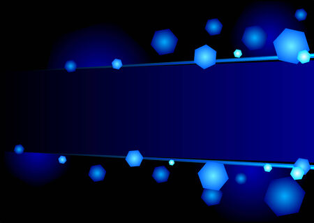 Wallpaper with blue lights and copy space Stock Vector - 5300648